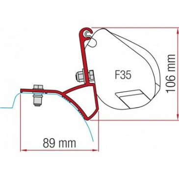 Fiamma F35 Awning Adapter Kit - Trafic/Vivaro/ After 2015